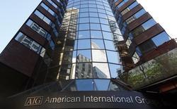 Le titre AIG figure au rang des valeurs à suivre ce mardi à Wall Street, alors que l'assureur américain a fait état lundi de résultats au deuxième trimestre supérieurs aux attentes avec un bénéfice en hausse de 12,5%. /Photo d'archives/REUTERS/Mike Segar