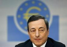 European Central Bank (ECB) President Mario Draghi pauses during the monthly ECB news conference in Frankfurt April 3, 2014.  REUTERS/Ralph Orlowski