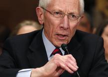 Vice-chair do Federal Reserve, banco central norte-americano, Stanley Fischer, durante audiência no Senado norte-americano, em Washington. 13/03/2014. REUTERS/Yuri Gripas