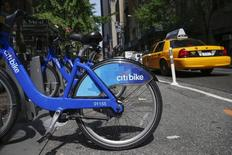 A Citi Bike bicycle is seen at a rental location in New York May 27, 2014. REUTERS/Shannon Stapleton