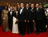 """The cast of the television series """"Veep"""" arrives on the red carpet at the annual White House Correspondents' Association Dinner in Washington, May 3, 2014. REUTERS/Jonathan Ernst"""