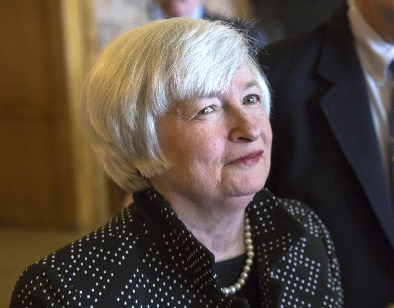 Janet Yellen, Chair of the Federal Reserve, enters the opening reception of the Jackson Hole Economic Policy Symposium in Jackson Hole, Wyoming on August 21, 2014.REUTERS/David Stubbs