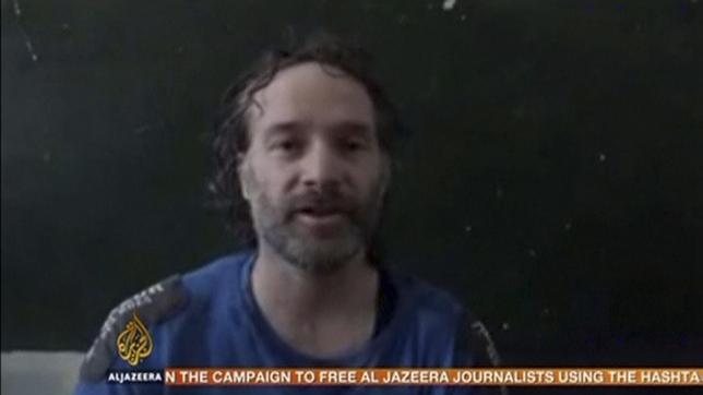 U.S. journalist Peter Theo Curtis is shown in this undated still frame taken from video courtesy of Al Jazeera on August 24, 2014.   REUTERS/Al Jazeera/Handout via Reuters