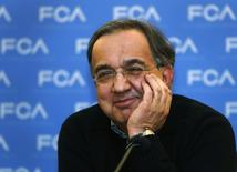 Fiat Chrysler CEO Sergio Marchionne answers questions from the media during the FCA Investors Day at the Chrysler World Headquarters in Auburn Hills, Michigan May 6, 2014. REUTERS/Rebecca Cook