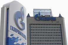 Vista general de la oficina principal de la petrolera Gazprom en Moscú. Imagen de archivo, 24 junio, 2014. La producción de petróleo de Rusia creció en agosto impulsada por una mayor producción de condensados de la estatal Gazprom, lo que muestra que los suministros hasta ahora no han sido afectados por las sanciones ante la invasión militar a Ucrania. REUTERS/Sergei Karpukhin
