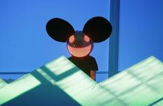 Deadmau5 performs at the 54th annual Grammy Awards in Los Angeles, California, February 12, 2012.  REUTERS/Danny Moloshok