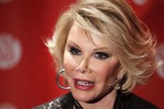 "Joan Rivers em foto de 2010 para lançamento do documentário ""Joan Rivers - A Piece Of Work"".  REUTERS/Lucas Jackson"
