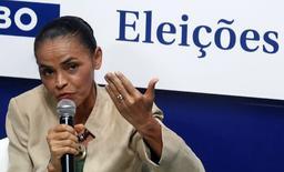 Candidata do PSB à Presidência, Marina Silva, em sabatina do jornal O Globo, no Rio de Janeiro. 11/9/2014. REUTERS/Pilar Olivares
