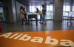 La casa matriz de Alibaba en Hangzhou, China, abr 23 2014. Alibaba Group Holding planea cerrar el libro de órdenes para su oferta pública inicial (OPI) de acciones anticipadamente tras recibir suficientes pedidos como para vender todos títulos de la operación, dijeron el viernes fuentes familiarizadas con el tema. REUTERS/Chance Chan
