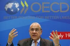 Angel Gurria, secretário-geral OCDE, durante entrevista coletiva em Moscou em julho de 2013. 19/07/2013 REUTERS/Grigory Dukor