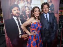 """Cast members Tina Fey and Jason Bateman pose at the premiere of """"This Is Where I Leave You"""" in Hollywood, California September 15, 2014. REUTERS/Mario Anzuoni"""
