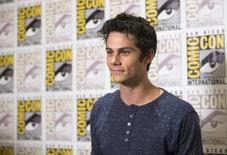 """Cast member Dylan O'Brien poses at a press line for """"The Maze Runner"""" during the 2014 Comic-Con International Convention in San Diego, California July 25, 2014.  REUTERS/Mario Anzuoni"""