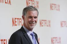 Reed Hastings, fundador e CEO da Netflix, em evento da empresa em Paris. 15/09/2014 REUTERS/Gonzalo Fuentes
