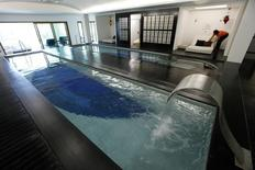 A view of the main spa area of The Palms hotel, where Portugal's national soccer team will be based at during the 2014 World Cup, in Campinas, 100 km (62 miles) northwest of Sao Paulo December 18, 2013.  REUTERS/Paulo Whitaker