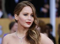 Atriz Jennifer Lawrence, em foto de arquivo, que teve fotos íntimas vazadas na Internet. 27/01/2013 REUTERS/Adrees Latif