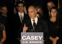 U.S. Sen. Bob Casey Jr. (D-PA) speaks to supporters during his election night rally after defeating Republican challenger Tom Smith in Scranton, Pennsylvania November 6, 2012. REUTERS/Tim Shaffer