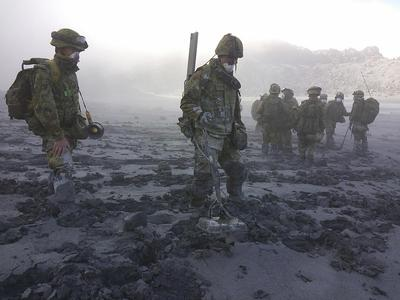 Search for volcano victims
