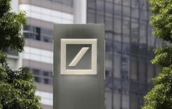 A logo of Deutsche Bank AG is seen in Tokyo July 16, 2014.  REUTERS/Toru Hanai