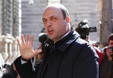 Italy's Interior Minister Angelino Alfano arrives for a confidence vote at the Senate in Rome February 24, 2014.  REUTERS/Remo Casilli
