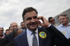 Candidato do PSDB à Presidência, Aécio Neves. REUTERS/Ueslei Marcelino (BRAZIL - Tags: POLITICS ELECTIONS)