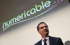 Eric Denoyer, actuel PDG de Numericable, devrait être nommé directeur général de la future entité SFR-Numericable une fois bouclé le rachat de la filiale de Vivendi par le câblo-opérateur. /Photo prise le 12 mars 2014/REUTERS/Jacky Naegelen