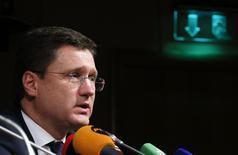 Alexander Novak, ministro ruso de Energía, durante una conferencia de prensa en Moscú, 22 octubre, 2014.Novak, dijo el miércoles que Ucrania debe encontrar la forma de pagar los contratos de gas ruso con la ayuda de la Unión Europea en una semana.  REUTERS/Maxim Shemetov