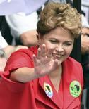 Presidente Dilma Rousseff, reeleita neste domingo, em evento de campanha em Porto Alegre. REUTERS/Edison Vara