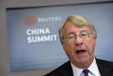 Kynikos Associates LP Founder and Managing Partner Jim Chanos speaks during the Reuters 2014 China Summit in New York, October 28, 2014.  REUTERS/Brendan McDermid