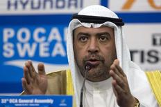 Olympic Council of Asia (OCA) President Sheikh Ahmad Al-Fahad Al-Sabah speaks at a news conference at the Main Media Centre of the 17th Asian Games in Incheon September 21, 2014. REUTERS/Rob Dawson/Files