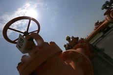 Газораспределительная станция в венгерском городе Кишкундорожма 12 августа 2014 года. Венгрия планирует начать строительство своего отрезка газопровода Южный поток в будущем году, несмотря на возражения Евросоюза и США, так как считает его единственным способом обеспечить поставки газа, сказал высокопоставленный венгерский чиновник в интервью Рейтер. REUTERS/Laszlo Balogh