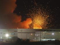 Takata's air bag plant is rocked by explosions in Monclova March 30, 2006. REUTERS/Gustavo Adolfo Rodriguez