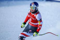 Lindsey Vonn (USA) finishes her run during training for the women's downhill in the FIS alpine skiing World Cup at Lake Louise Ski Resort. Dec 4, 2014; Lake Louise, Alberta, Canada;  Sergei Belski-USA TODAY Sports -
