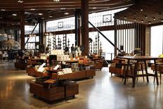 Visão do novo estabelecimento da Starbucks para preparar e degustar cafés premium em Seattle. REUTERS/Jason Redmond  (UNITED STATES - Tags: BUSINESS FOOD)