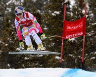 Dec 6, 2014; Lake Louise, Alberta, Canada; Lindsey Vonn of the USA competes during the women's downhill in the FIS alpine skiing World Cup at Lake Louise Ski Resort. Mandatory Credit: Eric Bolte-USA TODAY Sports
