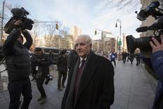 Daniel Bonventre, back-office director for Bernard L. Madoff Investment Securities LLC, exits the Manhattan Federal Court house in New York, March 24, 2014. REUTERS/Brendan McDermid