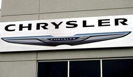 The Chrysler logo is seen outside the Chrysler auto dealer in Broomfield, Colorado October 1, 2014. U.S.  REUTERS/Rick Wilking