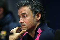 Técnico do Barcelona Luis Enrique concede entrevista. 09/12/2014. REUTERS/Gustau Nacarino