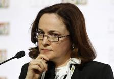 """Russia's next central bank chief Elvira Nabiullina attends """"The Russia Forum 2013"""", an annual business and investment conference, in Moscow, April 19, 2013. REUTERS/Sergei Karpukhin (RUSSIA - Tags: BUSINESS HEADSHOT)"""