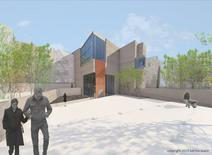 An artist's rendering shows the Urban Death Project facility in this undated handout photo illustration obtained by Reuters December 12, 2014. REUTERS/Katrina Spade/Handout via Reuters