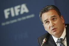 Michael J. Garcia attends a news conference  at the Home of FIFA in Zurich July 27, 2012. REUTERS/Michael Buholzer
