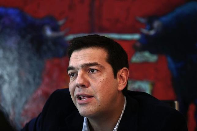 Greece's leftist main opposition Syriza party leader Alexis Tsipras speaks during an interview with Reuters in Athens December 18, 2014.  REUTERS/Alkis Konstantinidis
