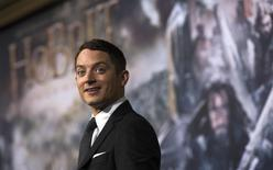 """Actor Elijah Wood poses at the premiere of """"The Hobbit: The Battle of the Five Armies"""" at Dolby theatre in Hollywood, California December 9, 2014.   REUTERS/Mario Anzuoni"""