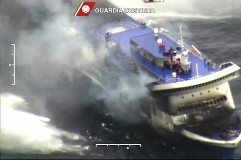 Stricken ferry adrift in Adriatic