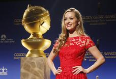 Miss Golden Globe Greer Grammer poses at the announcement of nominations for the 72nd annual Golden Globe Awards in Beverly Hills, California December 11, 2014. The awards will be presented on January 11, 2015. REUTERS/Danny Moloshok