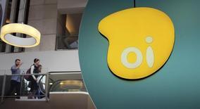 El logo de la brasileña Oi visto en el interior de un centro comercial en Sao Paulo. Imagen de archivo, 14 noviembre, 2014. La empresa brasileña de telecomunicaciones Grupo Oi dijo el lunes que retendrá con una deuda de 400 millones de euros (460 millones de dólares) emitida por su socio fusionado Portugal Telecom bajo los términos de una propuesta de venta de los activos portugueses a Altice. REUTERS/Nacho Doce