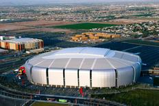 An overview of the University of Phoenix Stadium Stadium the home of the Arizona Cardinals NFL team is shown in this photo courtesy of City of Glendale. REUTERS/City of Glendale/Handout