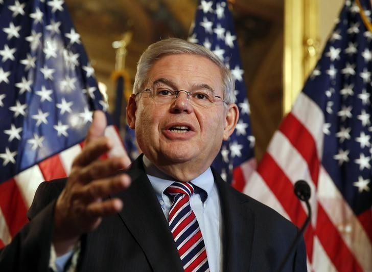 U.S. Sen. Robert Menendez (D-NJ) speaks about immigration reform at a news conference on Capitol Hill in Washington December 10, 2014. REUTERS/Larry Downing/Files
