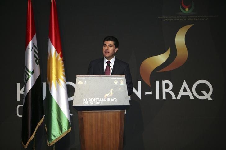 Iraq's Kurdistan Prime Minister Nechirvan Barzani speaks at the Iraq-Kurdistan Oil and Gas Conference at Arbil in Iraq's Kurdistan region, December 2, 2013. REUTERS/Azad Lashkari