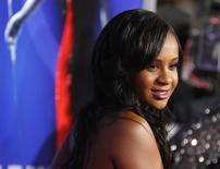 """Bobbi Kristina Brown, daughter of the late singer Whitney Houston, poses at the premiere of """"Sparkle"""" in Hollywood, California August 16, 2012. REUTERS/Fred Prouser"""