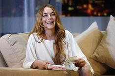 "Actress Lindsay Lohan rehearses a scene from ""Speed-the-Plow"" by David Mamet at the Playhouse Theatre in London in this file photo taken September 30, 2014.REUTERS/Suzanne Plunkett"